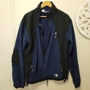The north face size L fleece zip up jacket